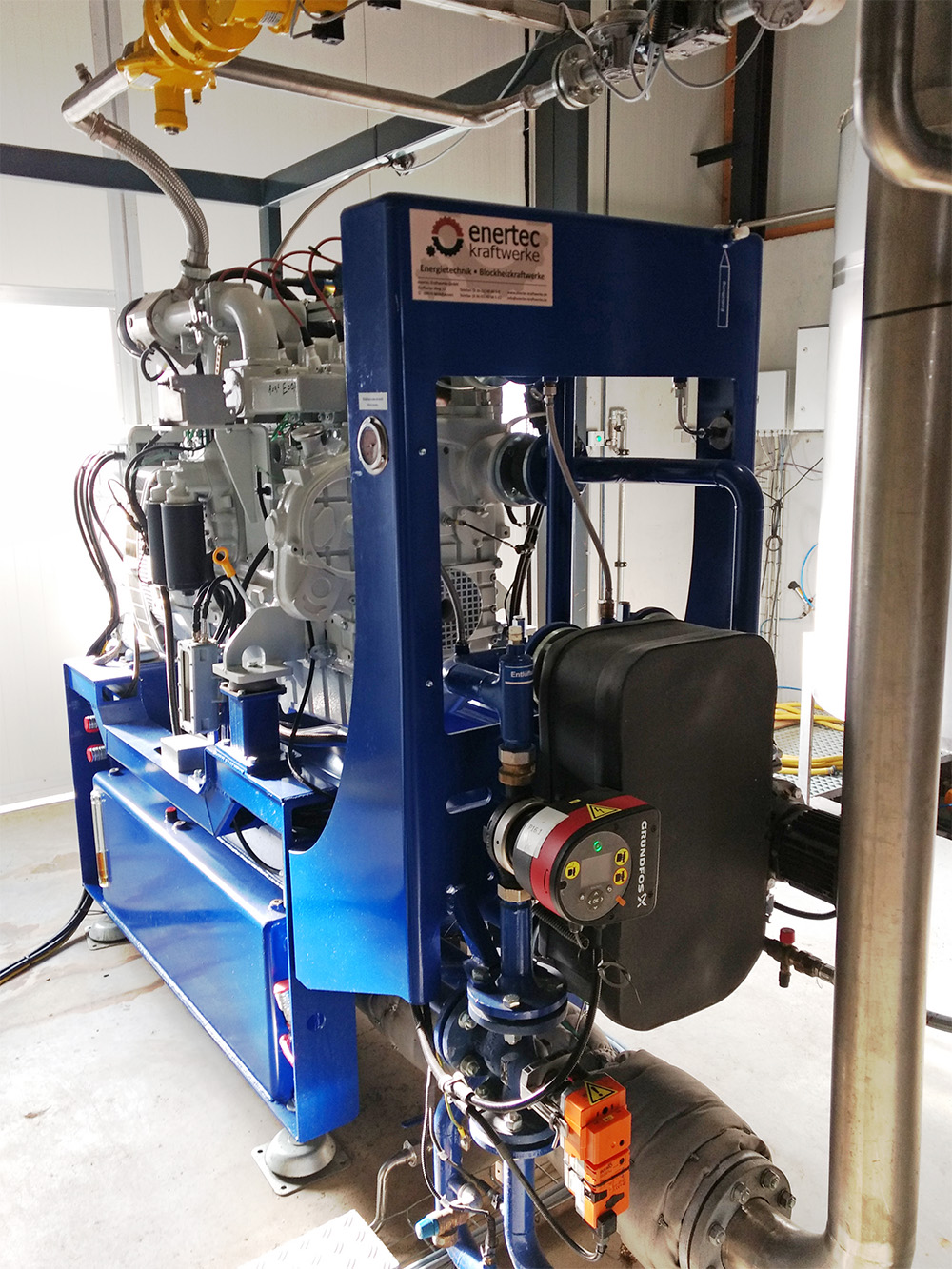 Biogasmotor Liebherr