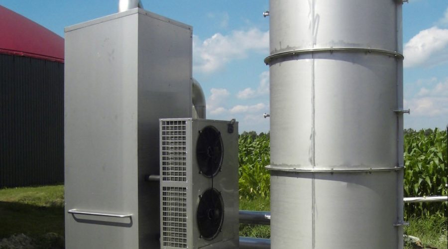 Biogasdroger en biogas ontzwaveling