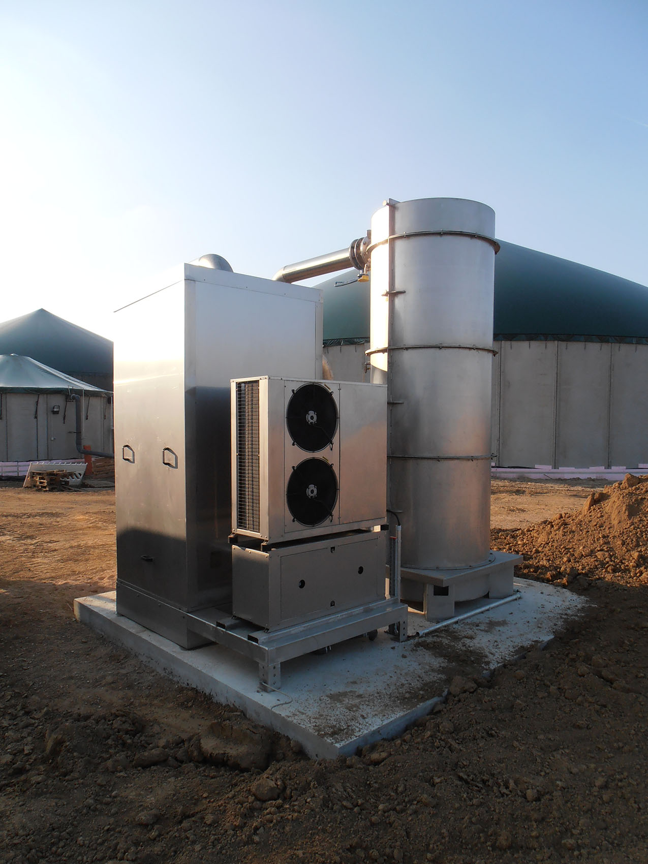 Biogasbehandeling Biogasdroger, ontzwaveling en biogaskoeling