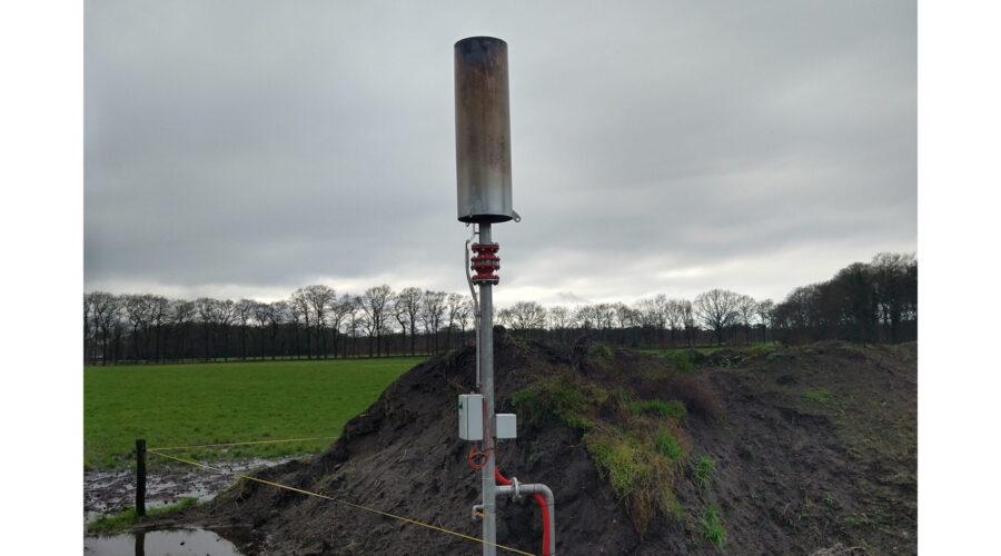 manual biogas flare